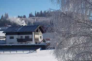 Hausansicht im Winter - Winterurlaub in Haidmühle