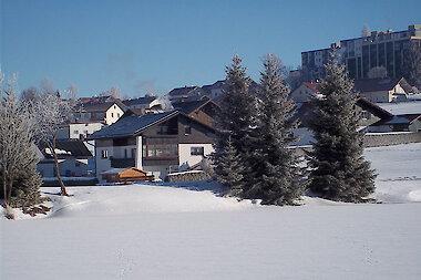 Winter im Bayerischen Wald - Hausansicht